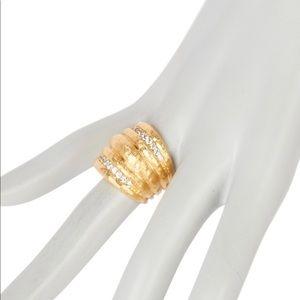 Rivka Friedman CZ Hammered Dome Ring